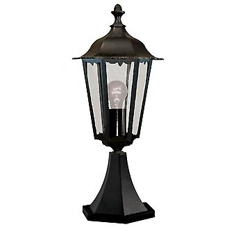 Alex Black Outdoor Pedestal Light - Searchlight 82503BK