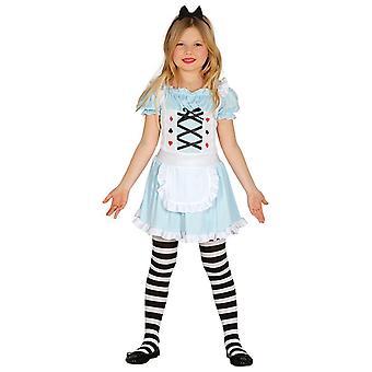 Girls Wonderland Alice Fancy Dress Costume