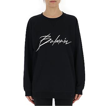 Balmain Black Cotton Sweater