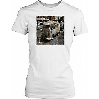 Camper Van - Volkswagen Ladies T Shirt