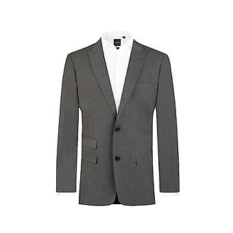 Dobell Mens Light Grey Suit Jacket Regular Fit Travel/Performance Notch Lapel