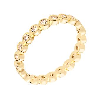 Bertha Juliet Collection Women's 18k YG Plated Stackable Eternity Fashion Ring Size 8