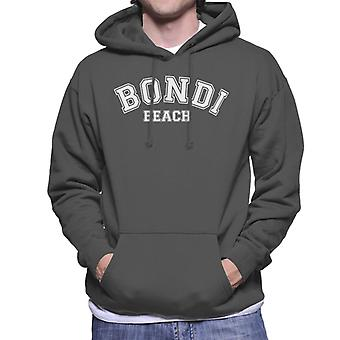 Bondi Beach College Text Men's Hooded Sweatshirt