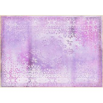 Rugs -Mineheart - Kashan Remix Landscape Rug in Purple