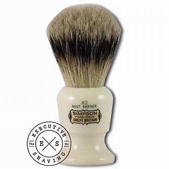 Simpsons Commodore X2 Best Badger Hair Shaving Brush