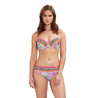 Feraud 3195081-16364 Women's Beach Leaves Multicolour Floral Swimwear Beachwear Bikini Set