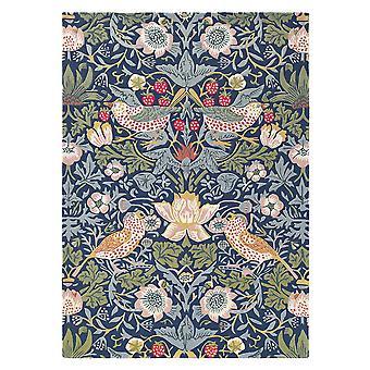 Morango ladrão tapetes 027708 Indigo por William Morris