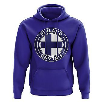 Finnland Fußball Badge Hoodie (Royal)