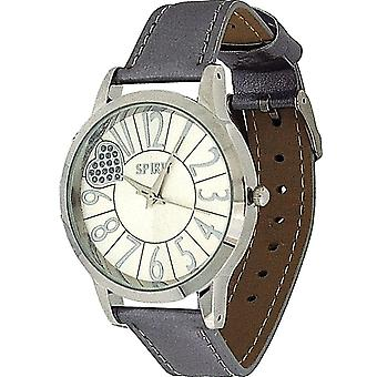Spirit Ladies Silver Heart Dial Metallic Silver PU Casual Strap Watch  ASLP47