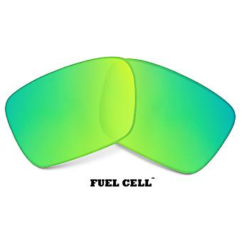 FUEL CELL Replacement Lenses Crystal Clear & Green by SEEK fits OAKLEY