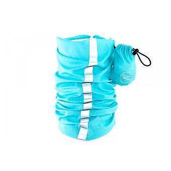 MaxFred multifunctional cloth versatile cloth with reflector stripe Island Paradise turquoise