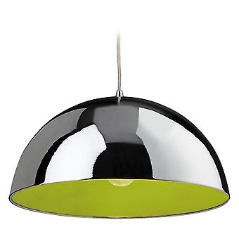 Firstlight - 1 Light Ceiling Pendant Chrome, Green Inside - 8622CHGN