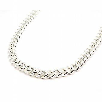 Toc Sterling Silver Gents 107 Gram Round Curb 24 Inch Necklace