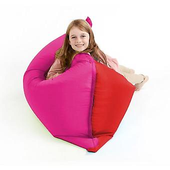 Red & Pink Water Resistant Children's Bean Bag Slab