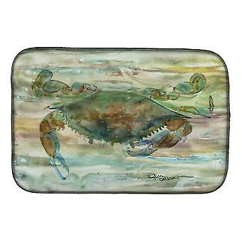 Carolines Treasures  SC2015DDM Crab a leg up Sunset Dish Drying Mat