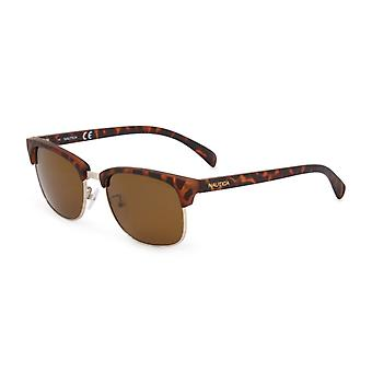 Nautica Men Brown óculos de sol--3096483824