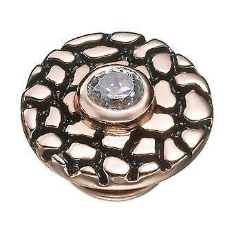 KAMELEON Rose Gold Crackle Sterling Silver & 18k Rose Gold JewelPop KJP482