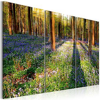 Canvas print-lente bos