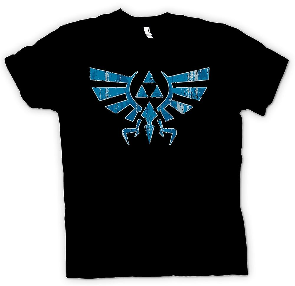 Mens t-shirt-Legend Of Zelda - Triforce - gioco ispirato ispirato