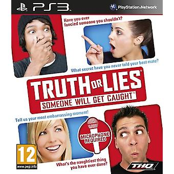 Truth or Lies (PS3) - Factory Sealed