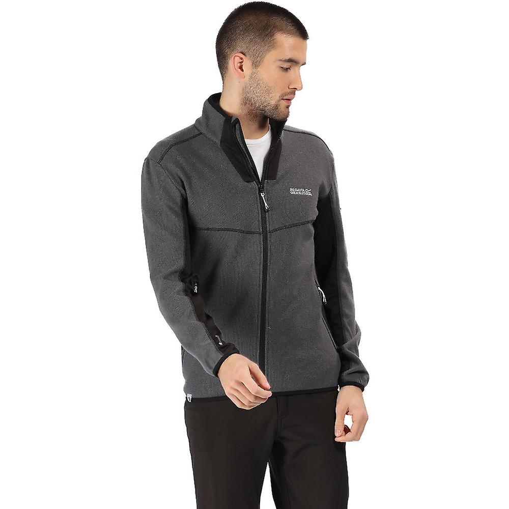 Regatta Mens Kestor Full Zip Knit Effect Fleece Jacket