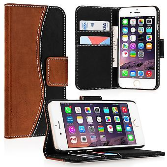Caseflex Premium iPhone 6 and 6s Genuine Leather Stand Wallet Black