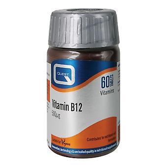 Quest Vitamins Vitamin B12 500mcg Tabs 60 (601084)