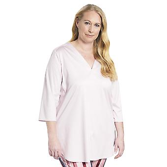 Rosch 1194530-11577 Women's Curve New Rose Pink Cotton Pyjama Top