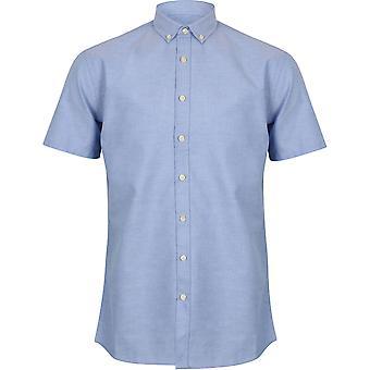 Henbury - Mens Modern Short Sleeve Oxford Shirt