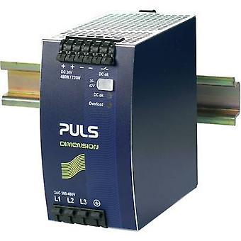 PULS DIMENSION QT20.361 Rail mounted PSU (DIN) 36 Vdc 13.3 A 480 W 1 x