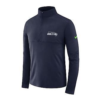 Nike Nfl Seattle Seahawks Half Zip Core Dri-fit Top