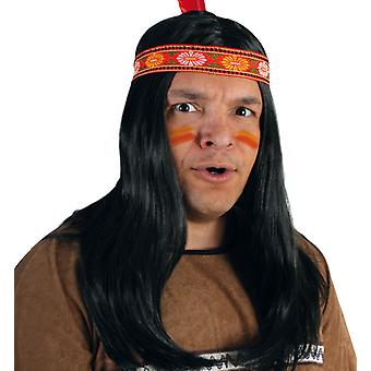 Indiansk Apache menns parykk