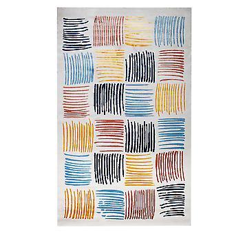 Pierre Cardin design matta i akryl Vit/Blå