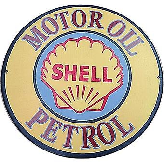 Shell Motor Oil Petrol large round metal wall sign   (ff)
