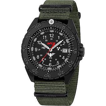 KHS - Wristwatch - Men - Enforcer Black Steel CR with Natoband Olive- KHS. ENFBSCR.NO