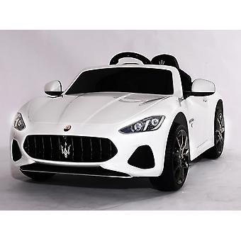 Licensed Maserati GranCabrio Sport 12V Kids Electric Ride On Car White
