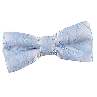 Boy's Swirl Baby Blue Bow Tie