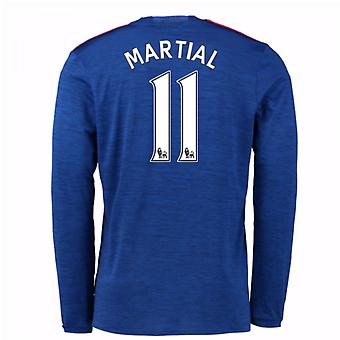 2016-17 Man United Away Long Sleeve Shirt (Martial 11) - Kids