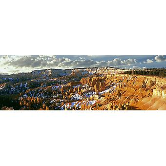 Sunrise near the spring equinox ignites the Hoodoos at Bryce Canyon In Bryce Canyon National Park Utah USA Poster Print