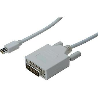 DisplayPort / DVI Cable [1x Mini DisplayPort plug - 1x DVI plug 25-pin] 2 m