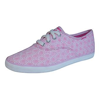 Keds Champion CVO Girls Lace Up Trainers / Shoes - Light Pink