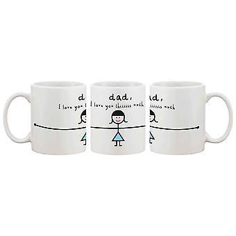 Lustige Keramik Kaffeebecher für Papa - ich liebe dich Thiiiiiiis viel, beste Vatertag Geschenk für Vater 11oz Mug