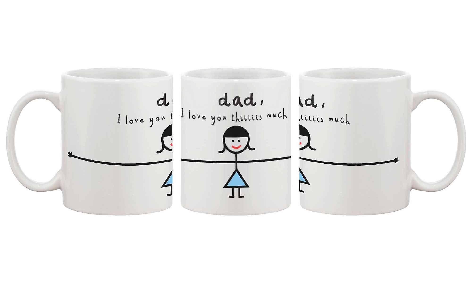 Drôle Thiiiiiiis Pères Tasse Céramique Des À Fête BeaucoupLe 11oz Pour Meilleur En Cadeau De Café PapaJe T'aime Père A3SRc54jLq