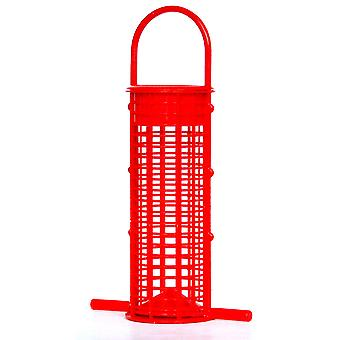 Supa Plastic Peanut Feeder Red 18cm (7