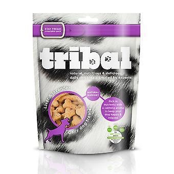 Tribal naturlige støtte behandler hund leveren & lavendel 130g (pakke med 6)