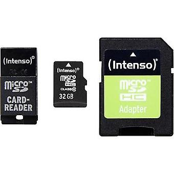 microSDHC card 32 GB Intenso Adapter Set Class 10 incl. SD adapter, incl. USB card reader