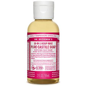Dr Bronner's Rose Pure-Castile Soap Liquid