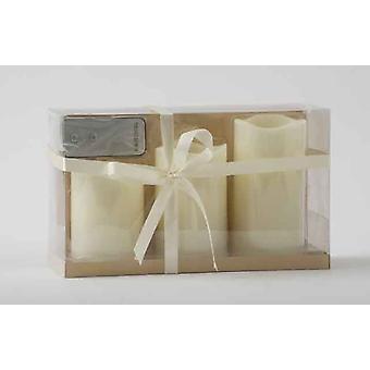3 couleur ivoire sans flamme LED rouge cire humeur bougie ensemble avec télécommande décoration cadeau ensemble de pièces