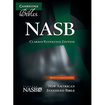 NASB Clarion Reference Bible NS485:X Brown Calfskin Leather (Leather Bound)