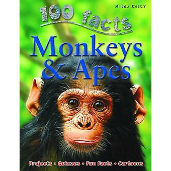 100 Facts Monkeys & Apes (Paperback) by De La Bedoyere Camilla